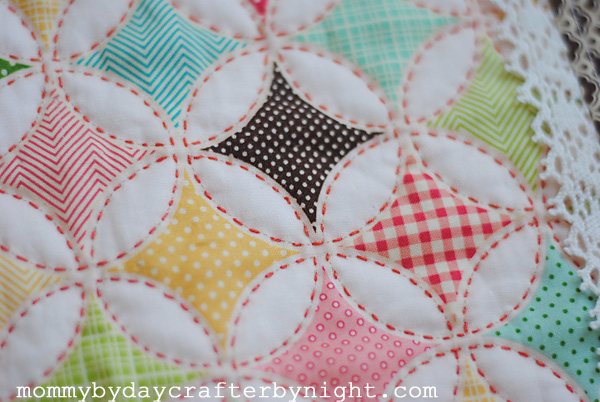 hand quilting cathedral window