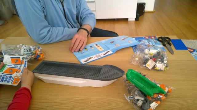 Lego aufbauen