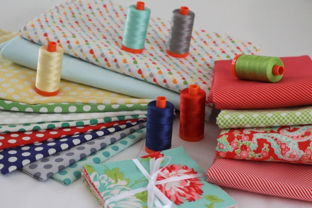 Bonnie and Camille with Simplify Aurifil