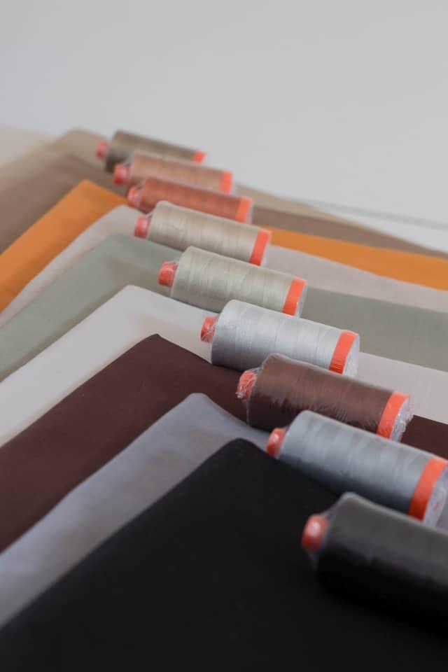 Aurifil Neutrals Matching Solids