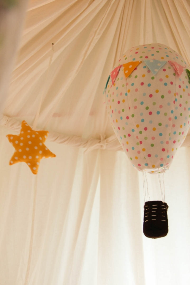 hot air balloon mobile. Black Bedroom Furniture Sets. Home Design Ideas