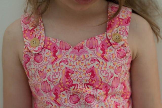 Kleid Ausschnittdetail
