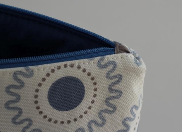 Tasche blau Detail