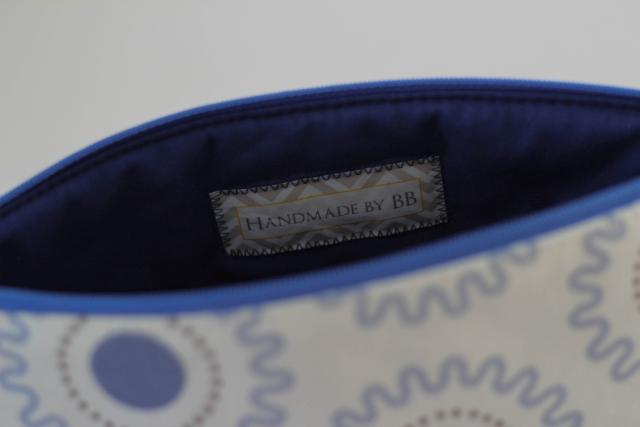 Tasche blau innen