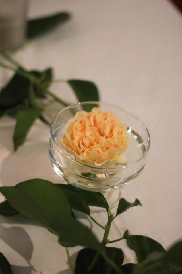 Tischdeko Rose