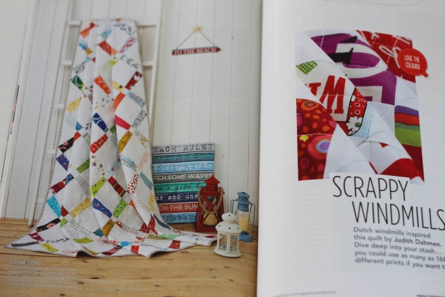 Love Patchwork and Quilting Scrappy Windmills