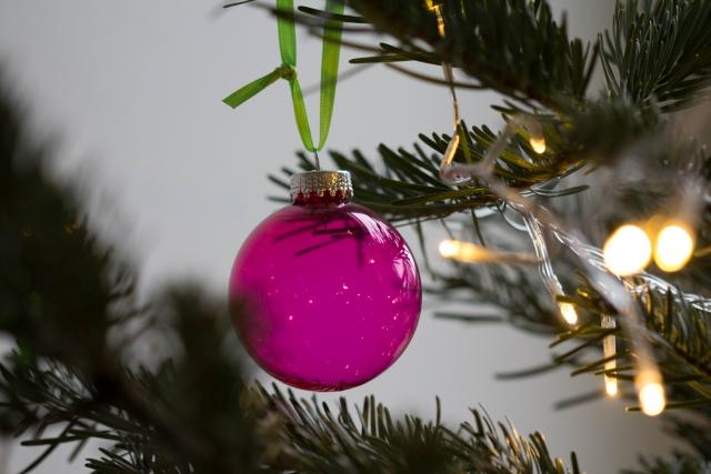 Weihnachtskugel pink
