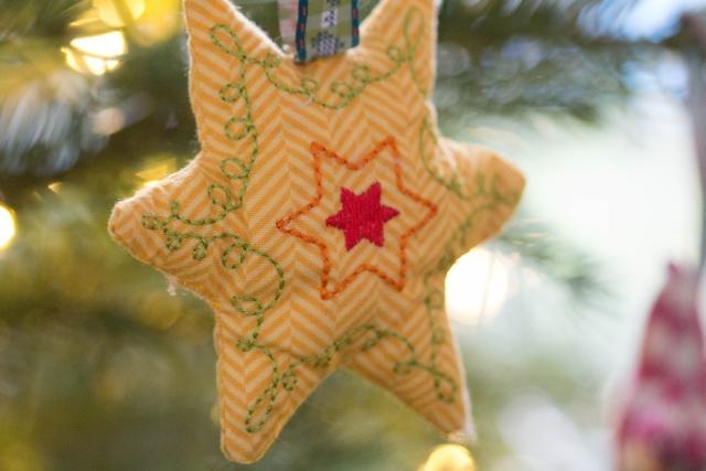 Weihnachtsstern gelb