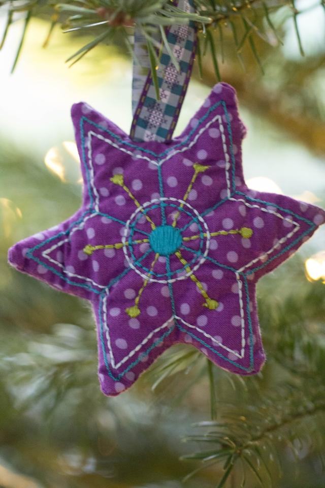 Weihnachtsstern lila