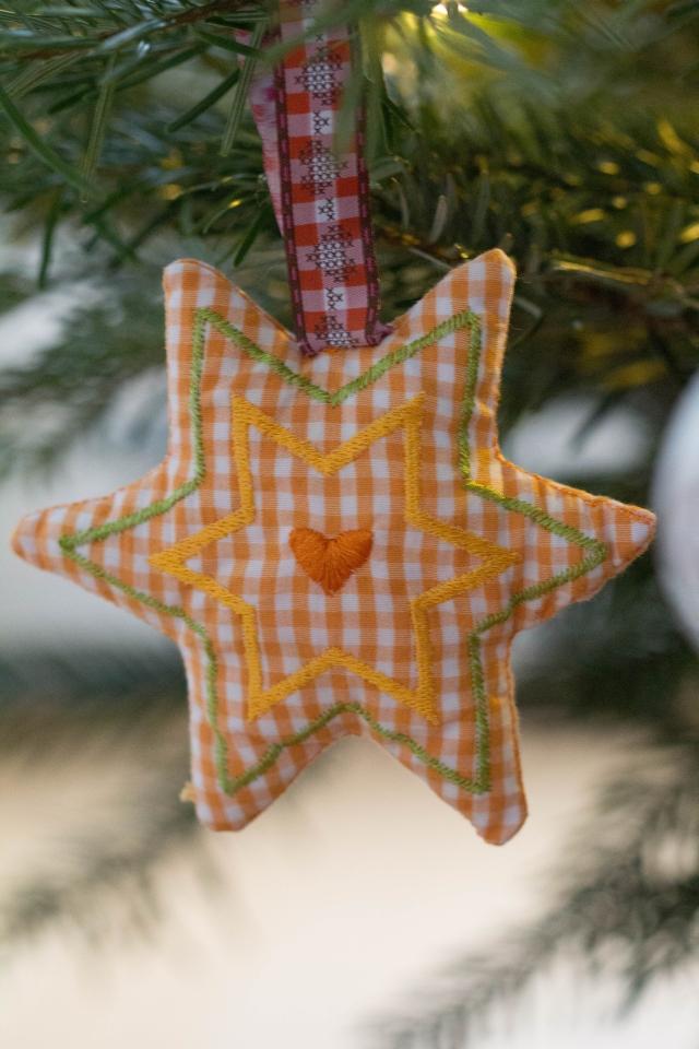 Weihnachtsstern orange