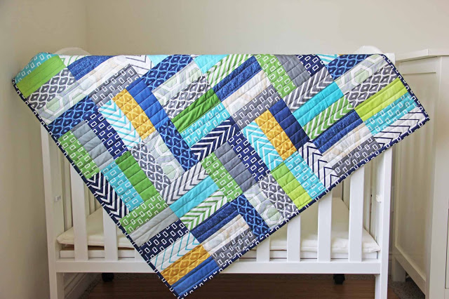 simply style baby boy quilt 1