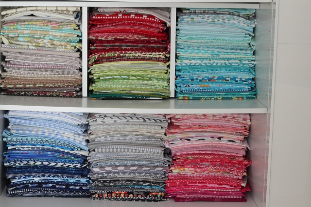 Fabric Stash by Color