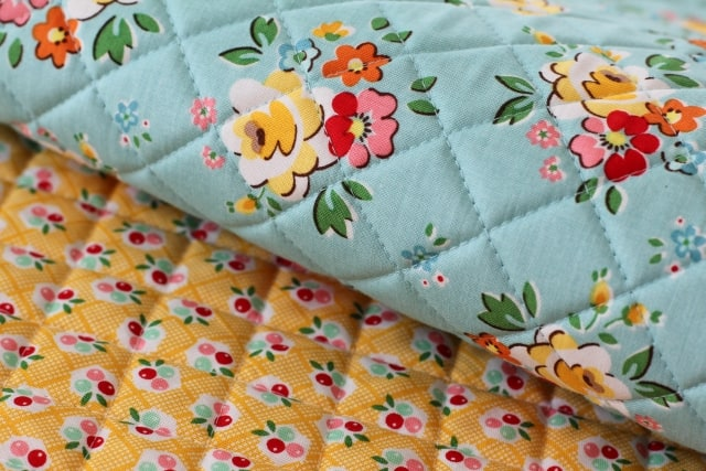 Backyard Roses Fabric quilted2