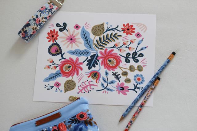 Les Fleurs Prints and Fabric
