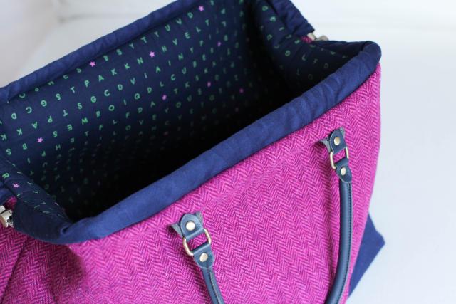 Frau Machwerks Carpet Bag aus Tweed | Das mach ich nachts